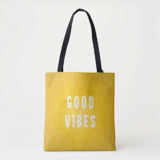 Bolsa Tote Boas as impressões amarelas e brancas ensolaradas