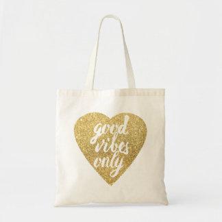 Bolsa Tote boas impressões do coração dourado somente