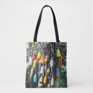 Bolsa Tote Bóias coloridas da lagosta