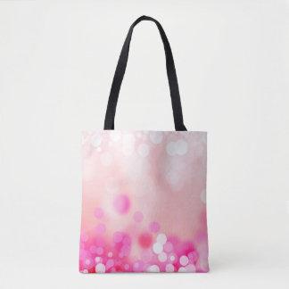 Bolsa Tote Bokeh cor-de-rosa