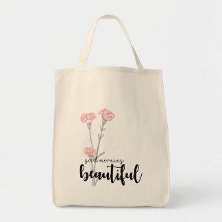 Bolsa Tote Bom dia bonito com cravos