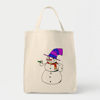 Bolsa Tote Boneco de neve feliz