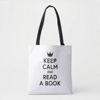 Bolsa Tote Bookish mantenha a calma e leia um livro