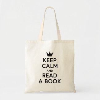 Bolsa Tote Bookish mantenha a calma e leia uma sacola do