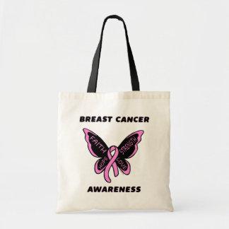 Bolsa Tote Borboleta/cancro da mama da consciência…