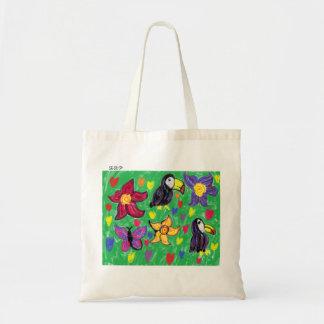 Bolsa Tote Borboleta da flor de Toucan