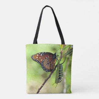 Bolsa Tote Borboleta da rainha e sacola de Caterpillar do