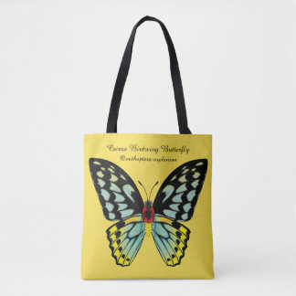 Bolsa Tote Borboleta de Birdwing dos montes de pedras dorsal