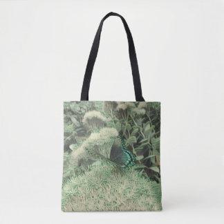 Bolsa Tote Borboleta de monarca monocromática verde das