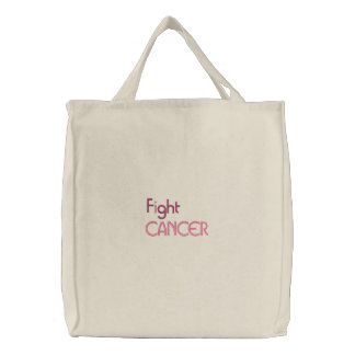 Bolsa Tote Bordada Eu luto o saco bordado cancer