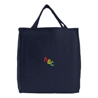 Bolsa Tote Bordada Letras do ABC