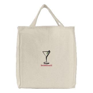 Bolsa Tote Bordada Martini personalizou o saco bordado