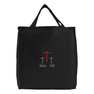 Bolsa Tote Bordada O 3:16 de John bordou a sacola