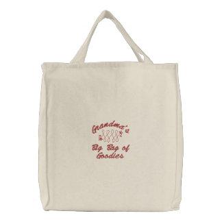 Bolsa Tote Bordada O saco grande da avó dos presentes