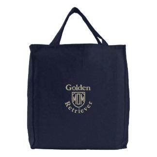 Bolsa Tote Bordada Presentes da mamã do golden retriever