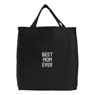 Bolsa Tote Bordada Saco bordado costume, a melhor mamã nunca