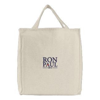 Bolsa Tote Bordada Saco bordado de Ron Paul 2012