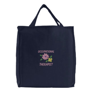 Bolsa Tote Bordada Saco bordado do terapeuta ocupacional