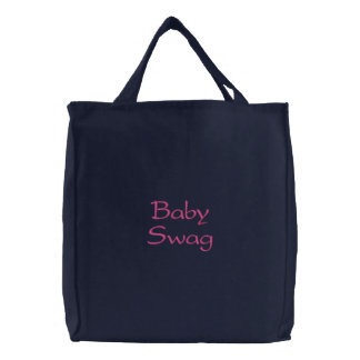 Bolsa Tote Bordada Saco bordado ganhos do bebê