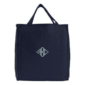 Bolsa Tote Bordada Saco bordado inicial personalizado
