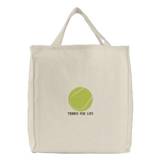 Bolsa Tote Bordada Saco bordado personalizado da bola de tênis