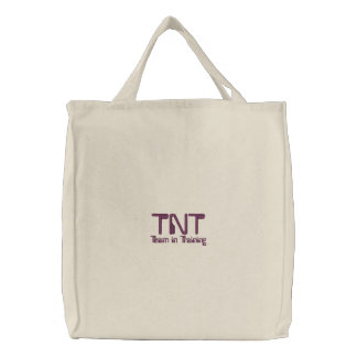 Bolsa Tote Bordada TNT, equipe no treinamento