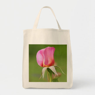 Bolsa Tote Botão solitário do rosa do rosa