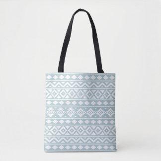 Bolsa Tote Branco asteca de Ptn III da essência no azul do