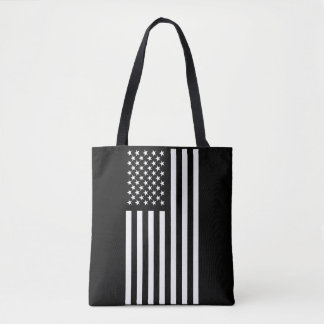 Bolsa Tote Branco da bandeira americana