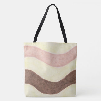 Bolsa Tote Brown cor-de-rosa napolitana e branco