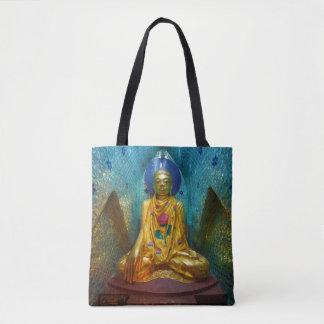 Bolsa Tote Buddha na alcova ornamentado