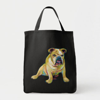 Bolsa Tote Buldogue bonito do menino grande