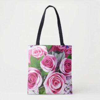 Bolsa Tote Buquê cor-de-rosa 2 dos rosas -