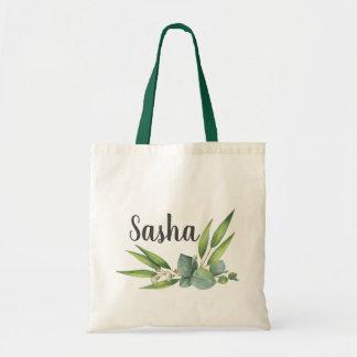 Bolsa Tote Buquê da folha do eucalipto personalizado