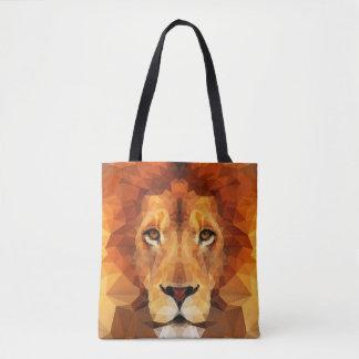 Bolsa Tote Cabeça do leão de Brown por todo o lado na sacola