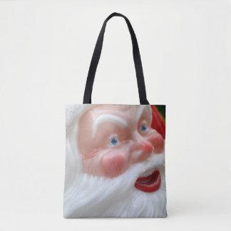 Bolsa Tote Cabeça do vintage de Papai Noel
