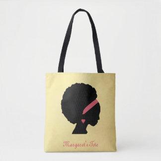 Bolsa Tote Cabelo dourado do Afro do design da cor