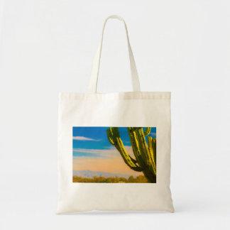 Bolsa Tote Cacto do Saguaro do deserto no céu azul