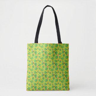 Bolsa Tote Cacto mim parte externa (verde) - sacola
