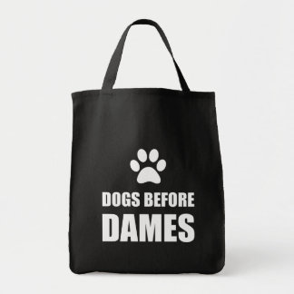 Bolsa Tote Cães antes das damas Engraçado