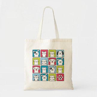 Bolsa Tote Cães bonitos, engraçados & design dos gatos