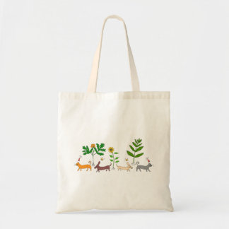 Bolsa Tote Cães e gato e sacola das plantas