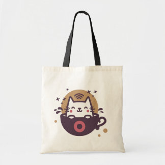 Bolsa Tote Café bonito do gato