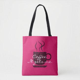 Bolsa Tote Café. Obtem-me. - Rosa - bolsa/BOLSA