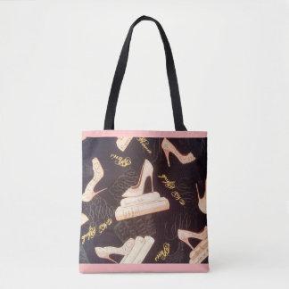 """Bolsa Tote """"Calçados cor-de-rosa fabulosos"""" toda sobre -"""