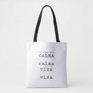BOLSA TOTE CALMA VIDA