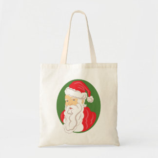 Bolsa Tote Cameo de Papai Noel do Natal