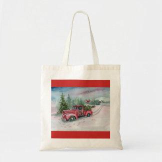 Bolsa Tote Caminhão vermelho no prado