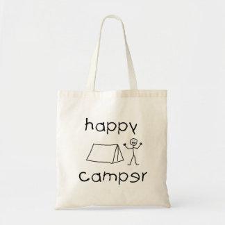 Bolsa Tote Campista feliz (preto)