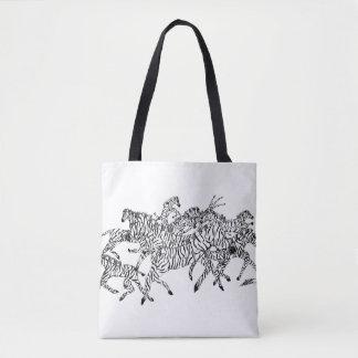Bolsa Tote Camuflagem da confusão da zebra - sacola do AOP